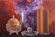 Lilacs and Candles
